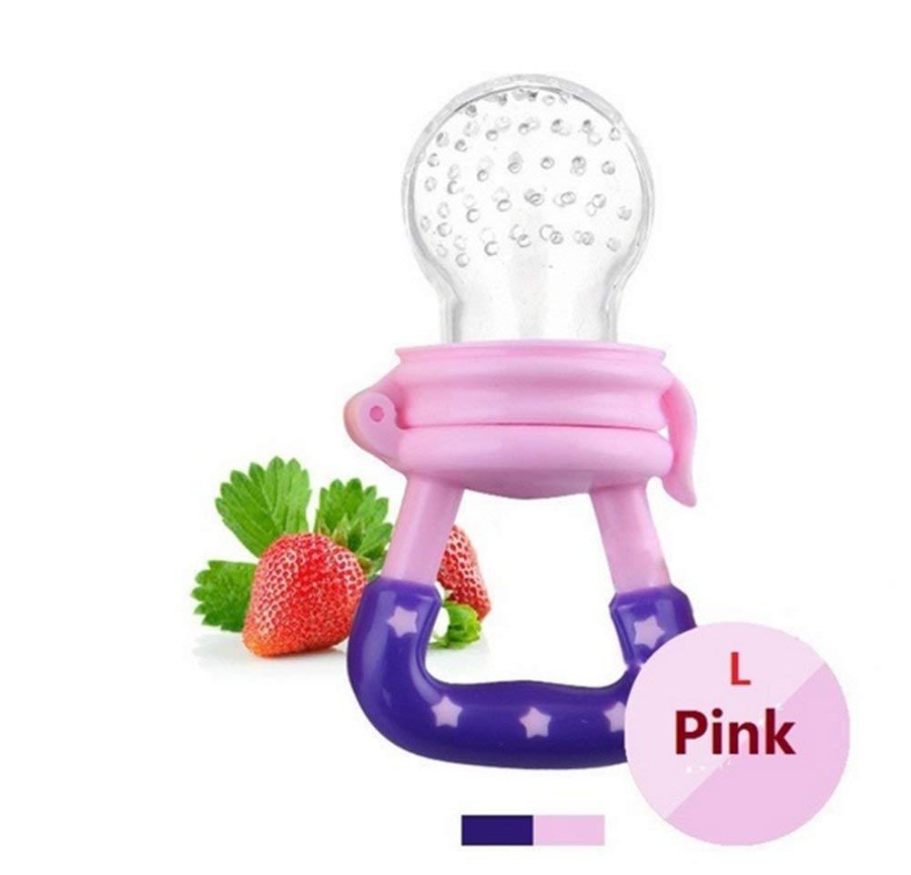 alimentos frescos multicolor para beb/és Chupete para beb/é Vaddbank frutas alimentador de silicona extra para chupete L, rosa beb/és y ni/ños juguetes para beb/é S, M, L