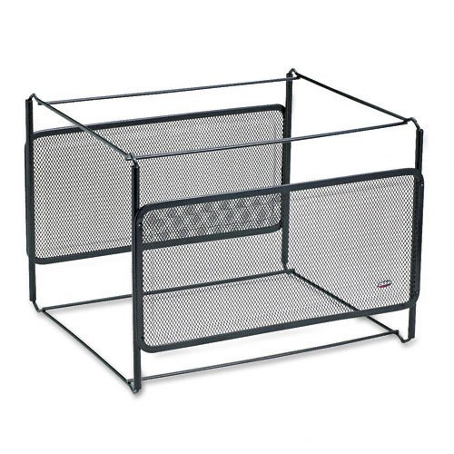 Rolodex : Letter Size Mesh File Frame Holder, Wire, 12 3/8 x 11 3/8 x 9 5/8, Black -:- Sold as 2 Packs of - 1 - / - Total of 2 Each ()