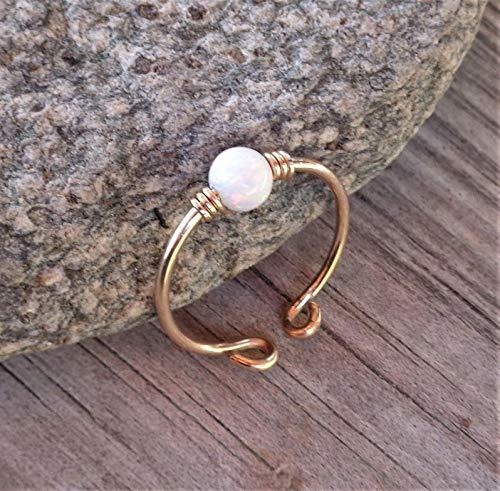 Toe,Midi,Knucle White Fire Opal Ring