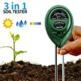 Soil pH Meter, 3-in-1 Soil Test Kits pH Moisture Meter Plant Water Light Tester for Plant Vegetables Care, Great for Garden, Lawn, Farm, Herbs & Gardening Tools, Indoor/Outdoors Plant Care (1 PACK)