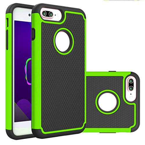 - iPhone 8 Plus Case,AutumnFall Deluxe Double Shockproof Armor TPU + PC Back Protective Cover Case For Apple Iphone 8 Plus 5.5 Inch(2017) (Green)
