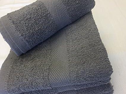 24 NEW gris peluquería toallas de mano de Dobby frontera hilado y algodón 16 x 27 1,4 kg: Amazon.es: Amazon.es