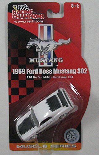 Racing Champions 1969 Ford Boss Mustang 302 Muscle Series 1:64 Scale