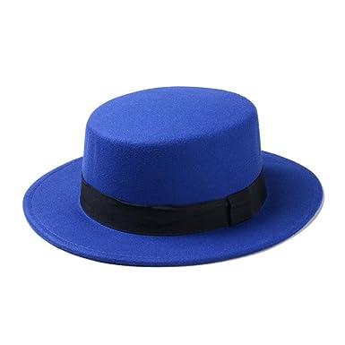 Gorros Estrenar Flat Mujeres Ancho Fieltro Hat Top ala Mode De ...