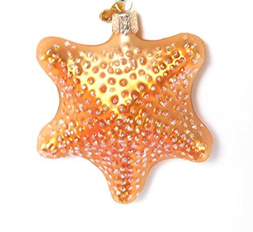 Fish Old World Christmas Ornament (Old World Christmas Glittery Bronze Starfish Glass Ornament #12040)