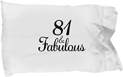 DesiDD 81st Birthday Pillow Case
