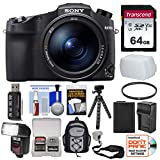 Sony Cyber-Shot DSC-RX10 IV 4K Wi-Fi Digital Camera with 64GB Card + Backpack + Flash + Battery & Charger + Tripod + Filter Kit
