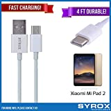 Syrox 50-Pack USB Type-C Cable, Reversible 4 ft Ultra Durable Fast Charging for Xiaomi Mi Pad 2, Samsung Galaxy Note 8, S8 Plus, LG V30, V20, G6, G5, Google Pixel, 6P, Nintendo Switch and All