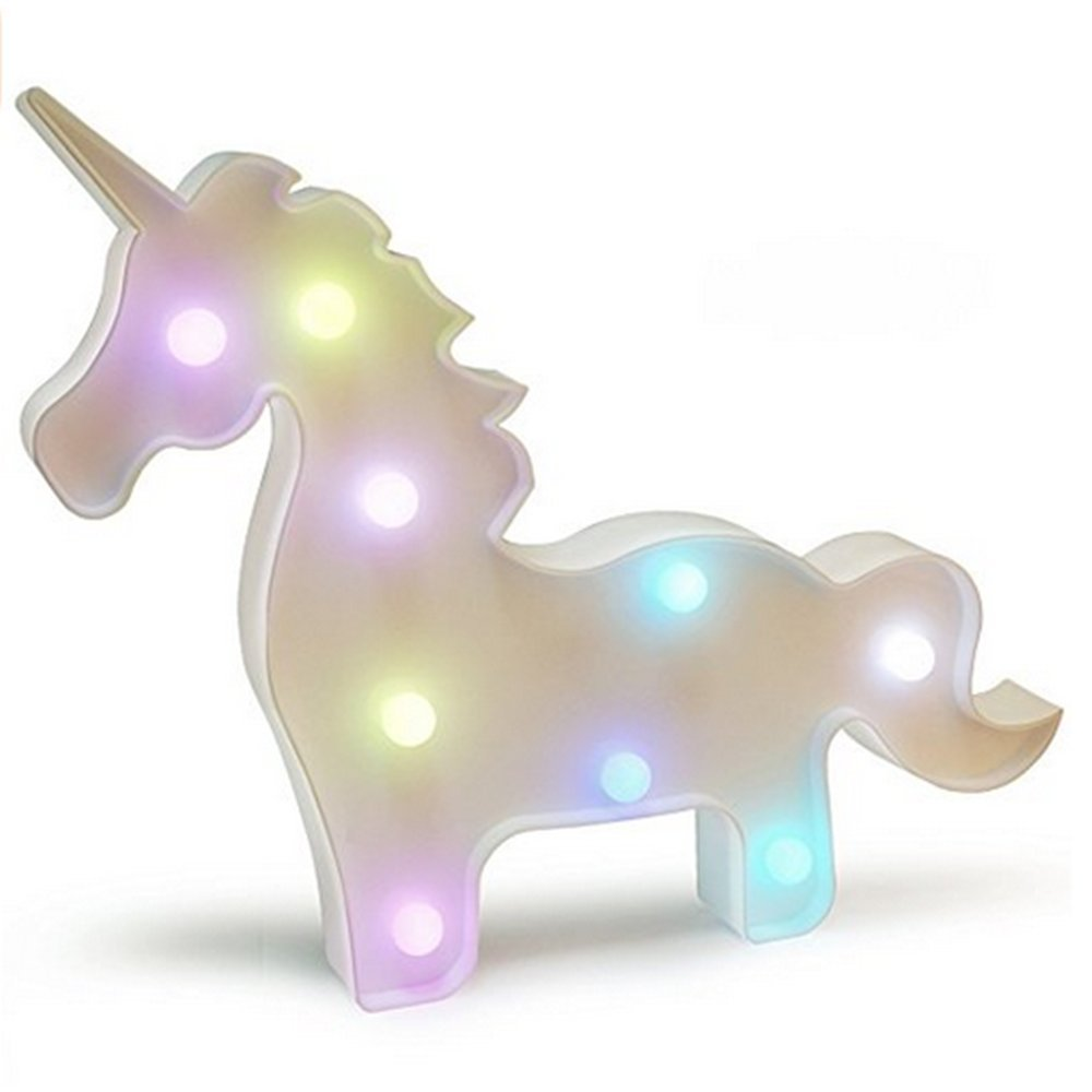 Kids Room Night Lights Unicorn Shape Signs Light Night Light Wall Decoration for Living Room,Bedroom,Home, Christmas (Unicorn)