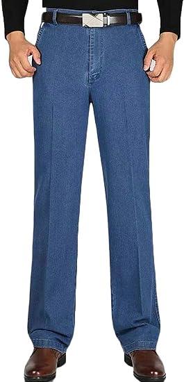 gawaga メンズ カジュアル リラックス フィット ストレート レッグ ジーンズ デニム パンツ ポケット付き