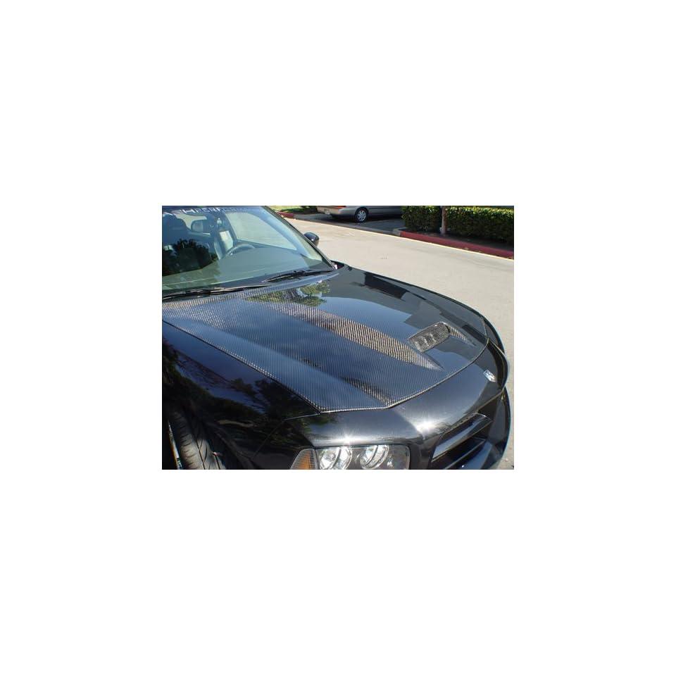 2005 2009 Dodge Charger SRT8 Style Carbon Fiber Hood