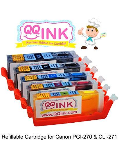 Refillable Edible Ink Cartridge for Canon PGI-270XL PGI 270 CLI-271XL CLI 271 PIXMA MG5720 MG5721 MG5722 MG6820 MG6821 MG6822 MG7720