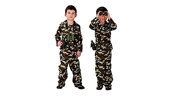 Disfraz militar infantil carnaval camuflaje asalto soldado armado ...