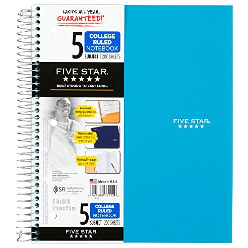 043100061120 - MEA06112 Trend Notebooks, Perforated, 5-Subject, 200/Sht, Assorted Colors carousel main 14