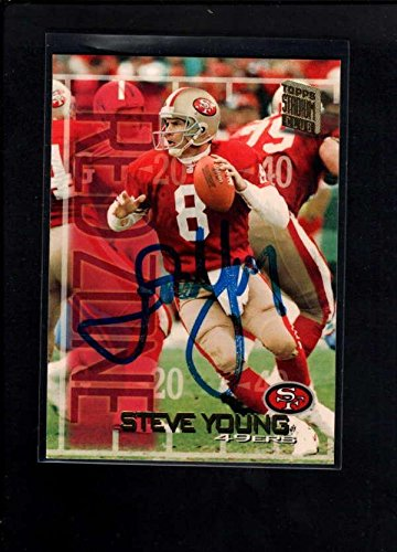 98d85c4e5 1994 Topps  511 Steve Young Authentic On Card Autograph Signature Ax3030 -  NFL Autographed Football