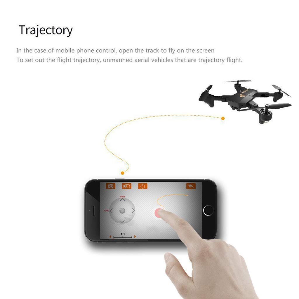 WANG XIN Folding high-Altitude Aerial Drone HD WiFi Real-time Image transmitting Quadcopter Remote Control Aircraft by WANG XIN (Image #3)
