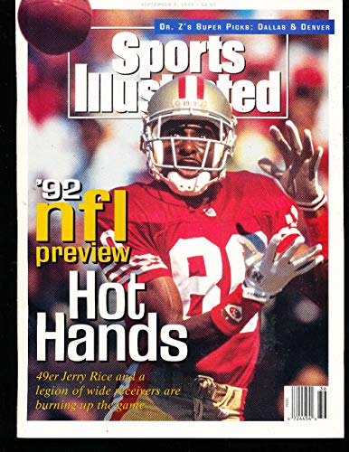 (9/7 1992 Jerry Rice 49ers Sports Illustrated Newsstand No Label)