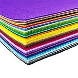 flic-flac 44PCS 12 x 12 inches (30 x 30cm) Assorted Color Felt Fabric Sheets Patchwork Sewing DIY Craft 1mm Thick (30cm 30cm, 44pcs)