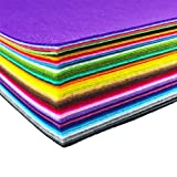 Image of flic-flac 44PCS 8 x 12 inches (20 x 30cm) Assorted Color Felt Fabric Sheets Patchwork Sewing DIY Craft 1mm Thick … (20cm 30cm, 44pcs)