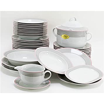 c37ce850334d0b Inconnu Autre - Service de Table Vaisselle en Porcelaine de Baviere pour 12  Personnes 44 Pieces