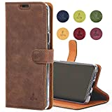Samsung Galaxy S9 Plus Case, Snakehive Genuine Leather Wallet with Viewing Stand and Card Slots, Flip Cover Gift Boxed and Handmade in Europe by Snakehive for Samsung Galaxy S9 Plus - (Brown)
