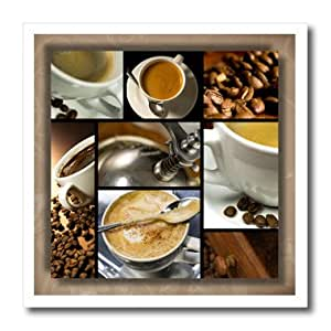 ht_28754_3 Susan Brown Designs General Themes - Coffee Themed Collage - Iron on Heat Transfers - 10x10 Iron on Heat Transfer for White Material
