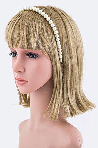 Trendy Fashion Jewelry 10MM Pearl Headband By Fashion Destination   (Cream)
