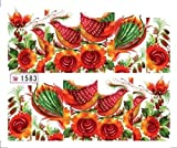 1-Set Good-looking Popular New Nails Art Sticker Easy Attach Multi-Color 3D Decor Pattern Type 1583