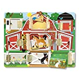 Melissa & Doug Hide and Seek Farm Wooden Activity Board With Barnyard Animal Magnets
