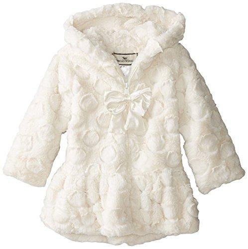 (Widgeon Little Girls' Hooded Faux Fur Coat (Toddler/Kid) - Candy Dot Ivory -)