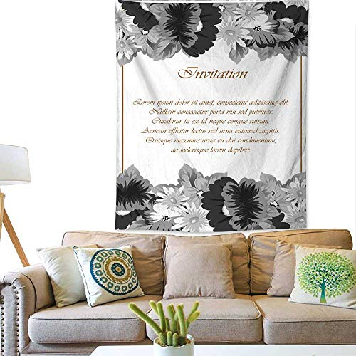 Wedding Invitation Time Frame - BlountDecor Decorative Tapestry Flower Frame for Your Designs Greeting Cards Greeting Cards Invitations for Wedding Birthday Party Valentine s Day 60W x 80L INCH