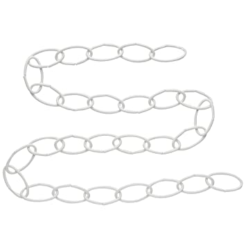 National Hardware 36 Wht Extension Chain,White,6-Pack