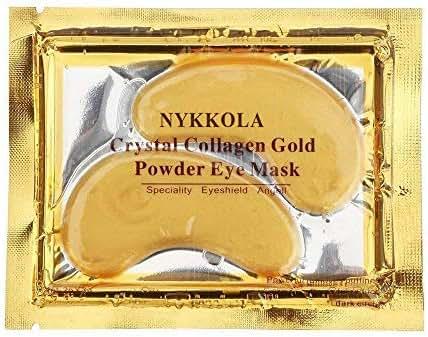NYKKOLA MultiPairs Gold Eye Mask Powder Crystal Gel Collagen Eye Pads For Anti-Aging & Moisturizing Reducing Dark Circles, Puffiness, Wrinkles (30 Pairs)