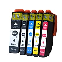 5 Pack Replacing for T410XL ink For Epson Expression Premium XP-530 XP-630 XP-830 Printers Cartridge Colour-store