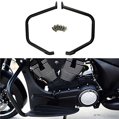 (Black Engine Guard Highway Crash Bars Engine Protector for Victory Cross Country Tour Crossroad)