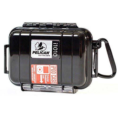 Pelican i1010 Waterproof Case for iPod, Black