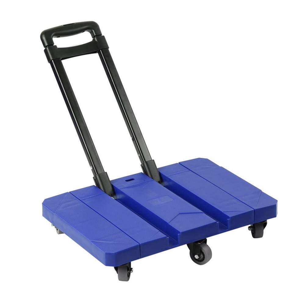Blau Seile Kitechildhrrd Transportwagen Klappbar 200 kg Plattformwagen Transporthilfe mit rollen Klappwagen M/öbelroller 44-92 cm Teleskopgriff aus Aluminium inkl