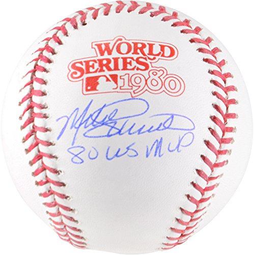 Mike Schmidt Philadelphia Phillies Autographed 1980 World Series Logo Baseball with 1980 WS MVP Inscription - Fanatics Authentic Certified