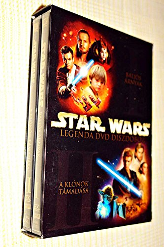 Star Wars Legenda DVD Diszdoboz / DVD Gift Box / Episode 1: The Phantom Menance (1999) / Episode 2: Attack of the Clones (2002) / ENGLISH Audio [European DVD Region 2 PAL]