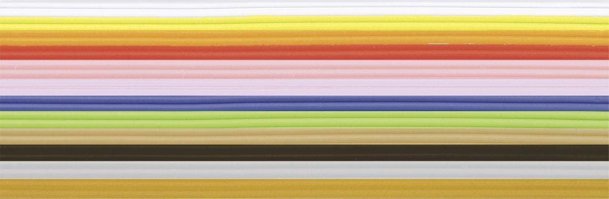 Knorr Prandell 218306062 Wachsstreifen Sortiment 200 mm Durchmesser 1 m, Grundfarben