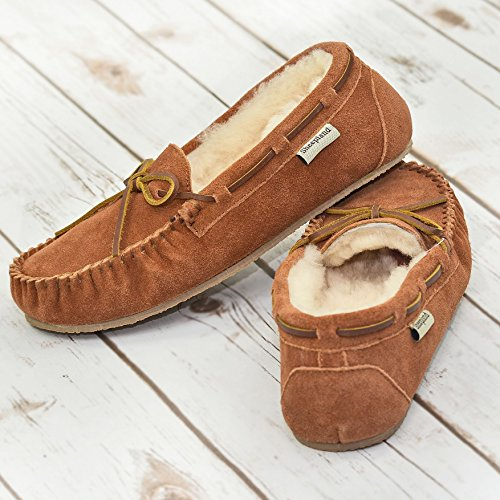 Whisky Pour Chaussons Marron Femme Sheepland wqXpxZW