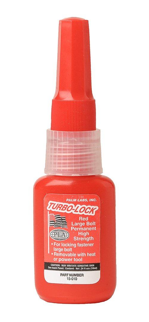 Turbo-Lock Red Permanent Large Bolt Threadlocker Series 15 - Equivalent to Loctite 277. 10ml Bottles - Case of 12