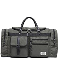 ZUMIT Travel Duffel Bag Square Black Business Weekend Tote Bag Gym Sports Holdall Bag Water-resistant Luggage...
