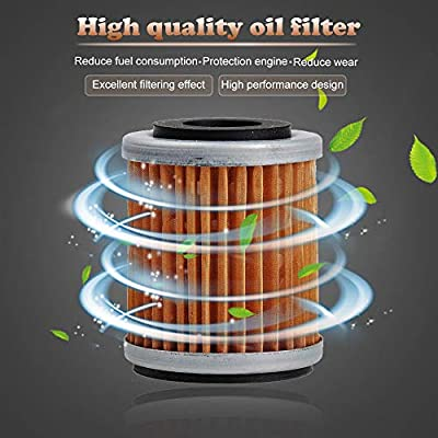 HIFROM Air Filter Cleaner with Oil Filter Spark Plug Tune Up kit Replacement for Yamaha Big Bear 400 YFM400 YFM400FB Replaces 1P0-E4450-00-00 4XE-E4450-00-00 1UY134400100 1UY1344002 1UY134400200: Home & Kitchen