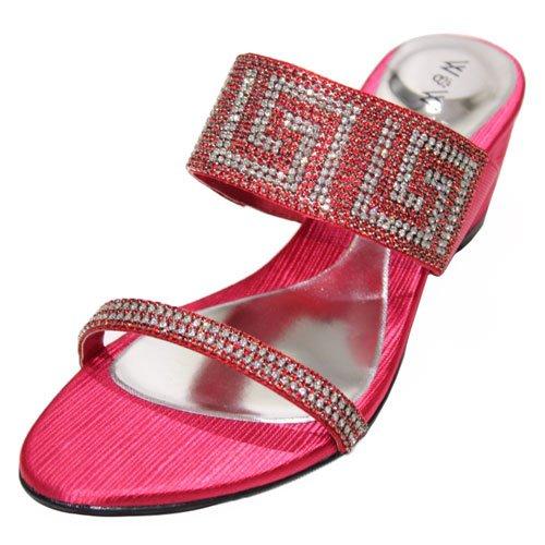Wear & Walk UK - Sandalias de vestir para mujer rojo - rojo