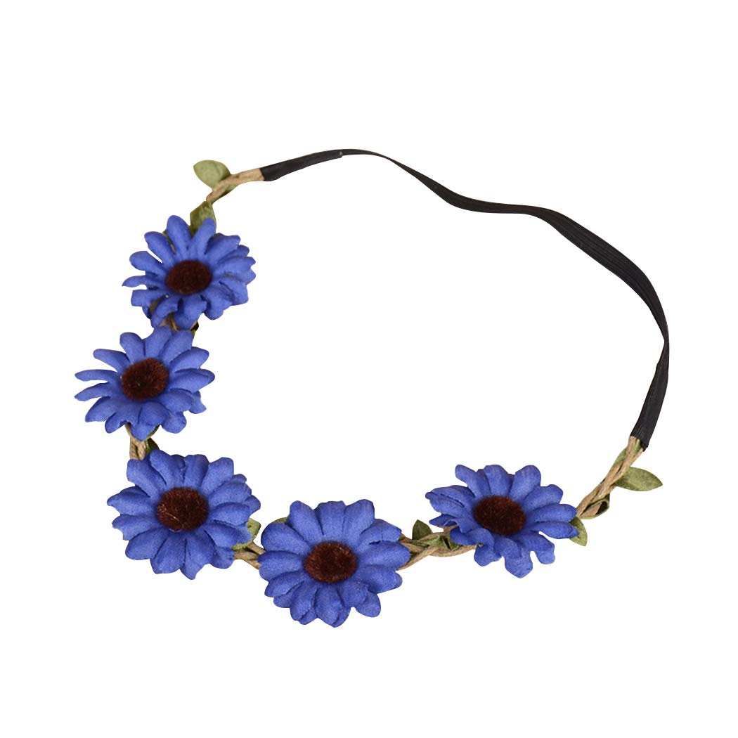 FORLADY Children Photographed BeachEmulation flower head Headbandshair Decorations Fashion Girasoli Margherite Ornamenti per capelli Fascia per capelli