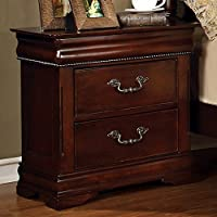 Furniture of America CM7260N Mandura Cherry Nightstand, 28 H