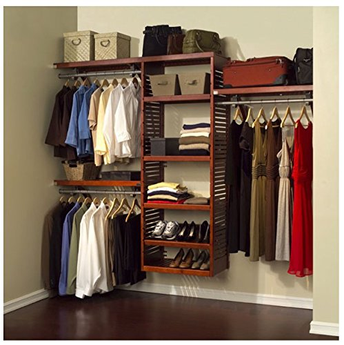 Bon John Louis Home Collection Deluxe Red Mahogany Wood Closet System