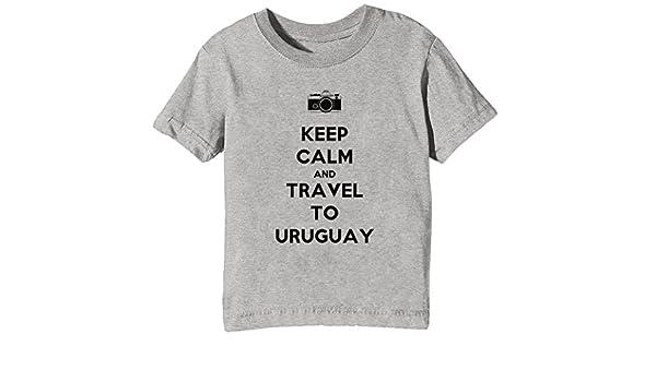 ad2525705 Erido Keep Calm and Travel to Uruguay Niños Unisexo Niño Niña Camiseta  Cuello Redondo Gris Manga Corta Todos Los Tamaños Kids Unisex Boys Girls  T-Shirt ...