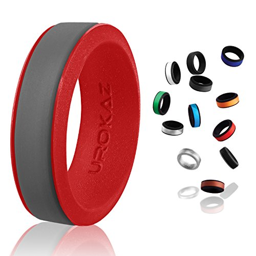 UROKAZ - Silicone Wedding Ring, The Only Ring that Fits Your Lifestyle - Whether You are Single or Married, UROKAZ Ring is Right for You - It is Fashionable, Flexible, and Comfortable (Vases Dollar 1)